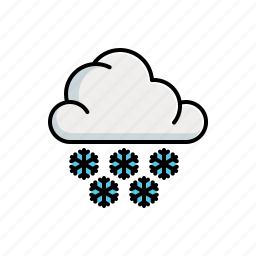 cloudy, nature, snow icon