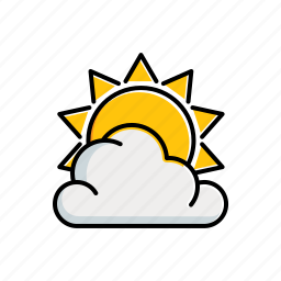 cloudy, nature, sun icon