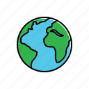 earth, globe, nature icon
