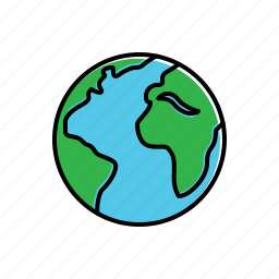 earth, globe, nature icon