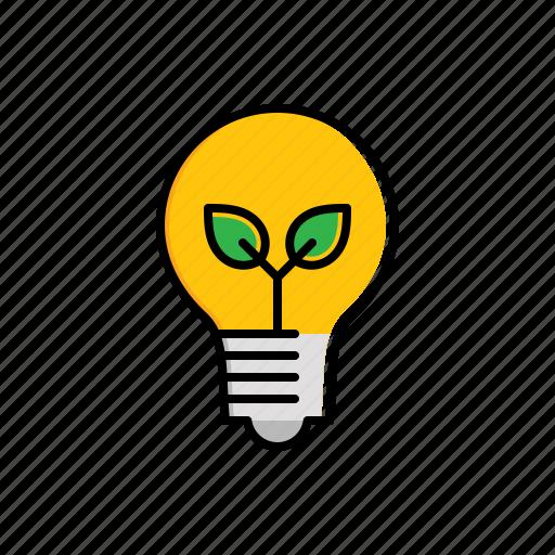 lamp, leaf, nature icon