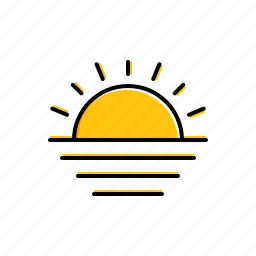landscape, nature, sun icon