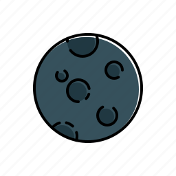 moon, nature, weather icon