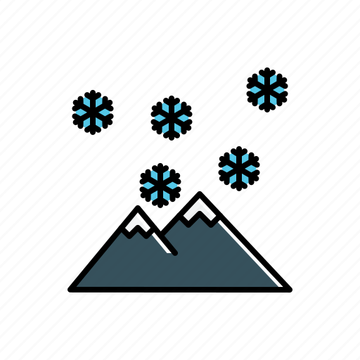 mountain, nature, snow icon