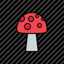 garden, mushroom, nature icon