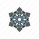 nature, snowflake, weather icon