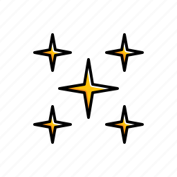 nature, stars, weather icon