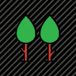 garden, nature, trees icon
