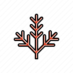 garden, nature, twigs icon