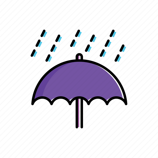 nature, rain, umbrella icon