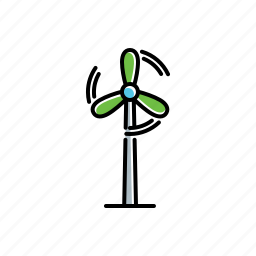 nature, turbine, wind icon