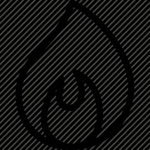 burn, creative, fire, flame, grid, heat, light, line, shape, temperature, torch icon