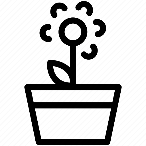 creative, environment, flower, flowerpot, garden, green, grid, line, plant, pot, shape, sunlight, water icon