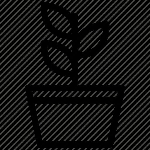 creative, ecology, flower, garden, green, grid, leaf, line, nature, organic, plant, shape icon