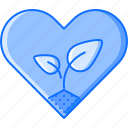 earth, eco, ecology, heart, love, nature, sprout icon