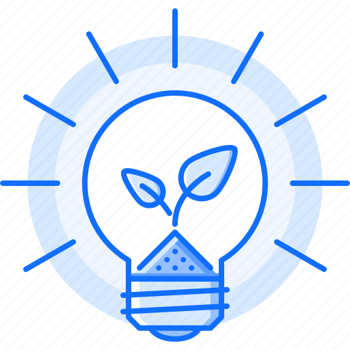 bulb, earth, eco, ecology, light, nature, sprout icon
