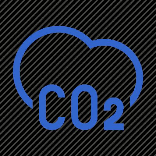 carbon, clod, co2, dioxide, enviromental, pollution icon