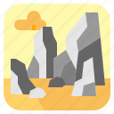 landscape, nature, rock, stone icon