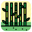 bamboo, forest, lanscape, nature icon