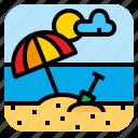 beach, landscape, sand, sea icon