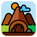 cave, landscape, mountain, nature icon