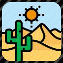 cactus, desert, landscape, sand icon