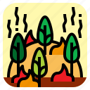 fire, forest, nature, wild icon