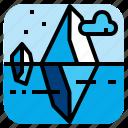 cold, ice, iceberg, sea icon