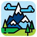 landscpe, mountain, nature, snow icon