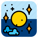 cloud, nature, planet, star icon