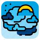 cloud, moon, night, sky icon
