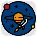 planet, saturn, space, spacecraft icon