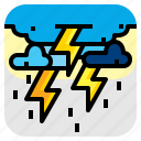 bolt, strom, thunder, weather