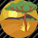 africa, nature, safari, savannah, travel, vacation, wildlife icon