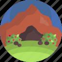 beautiful, cave, environment, landscape, nature, scenery, wild icon
