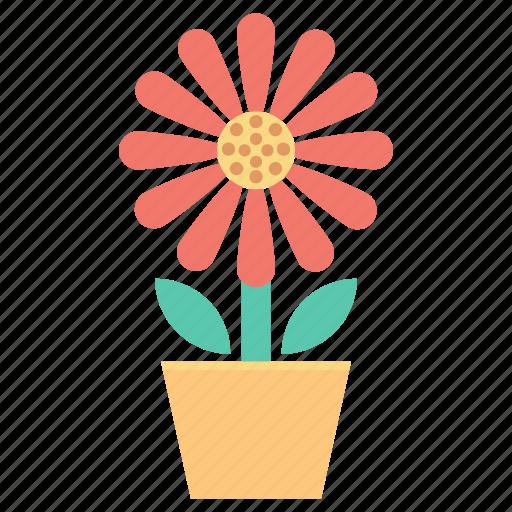 foliage, gardening, plant, pot, potted plant icon