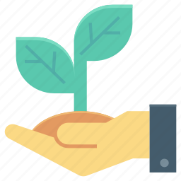 ecology, environment, fruit, hand gesture, plant care icon