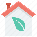 eco house, ecological house, green house, house, leaf icon