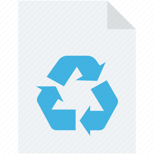 ecology, file, recycle, recycling, recycling file icon