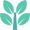 ecology, foliage, greenery, leaves, leaves twigs icon