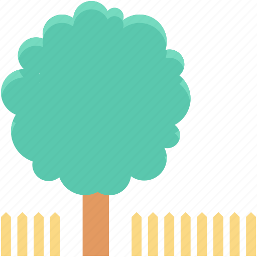 ecology, fence, forest, park, tree icon