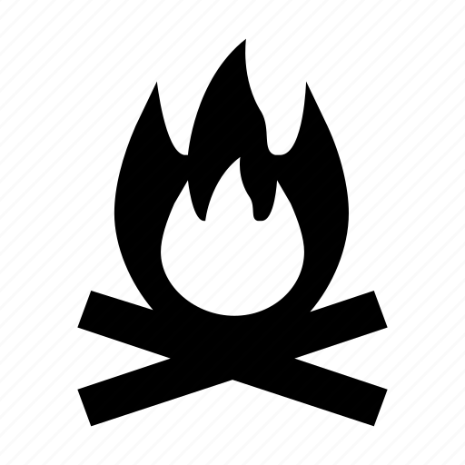 bonfire, campfire, fire, heat, igniting icon