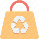 bag, eco bag, paper bag, recycling bag, recycling symbol icon