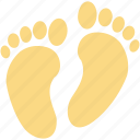 foot prints, foot sign, footsteps, human foot, human footprints icon