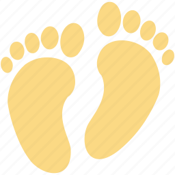 foot prints, foot sign, footsteps, human foot, human footprints icon