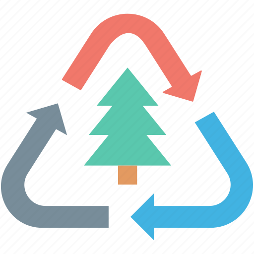 ecology, fir tree, pine tree, recycle tree, recycling icon