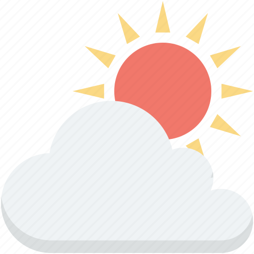 cloudy day, sunny cloud, sunrise, sunset, weather icon
