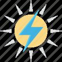 bolt, solar energy, solar power, sun, thunder icon