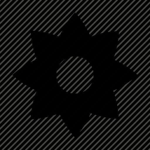creative flower, floral, flower, star shape, sunflower icon