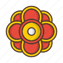 floral, flower, garden, nature, plant icon